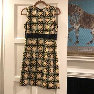 Milly print silk dress